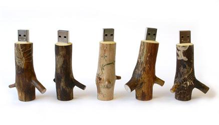 Деревянные USB-флешки